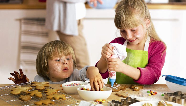 my best parenting advice Kids baking cookies